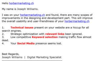 Printscreen Google von unerwünschter Werbung - horber marketing