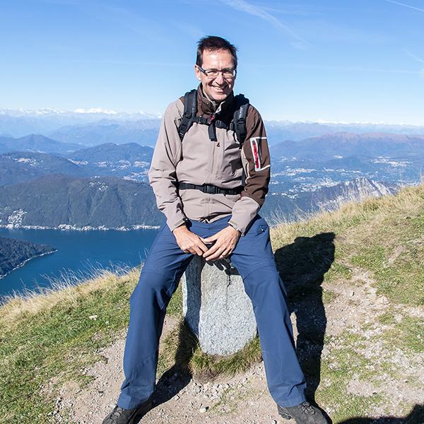 Matthias Horber privat auf Monte Generoso