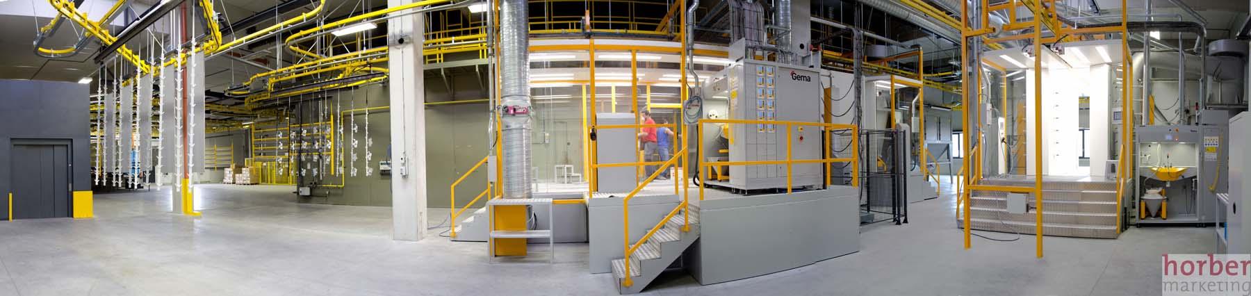 Pulverbeschichtungsanlage Panorama fotografiert von horber marketing