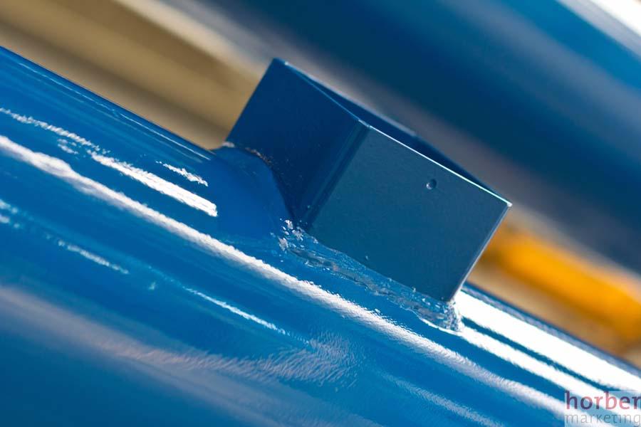 Pulverbeschichtete Oberfläche fotografiert von Matthias Horber horber marketing