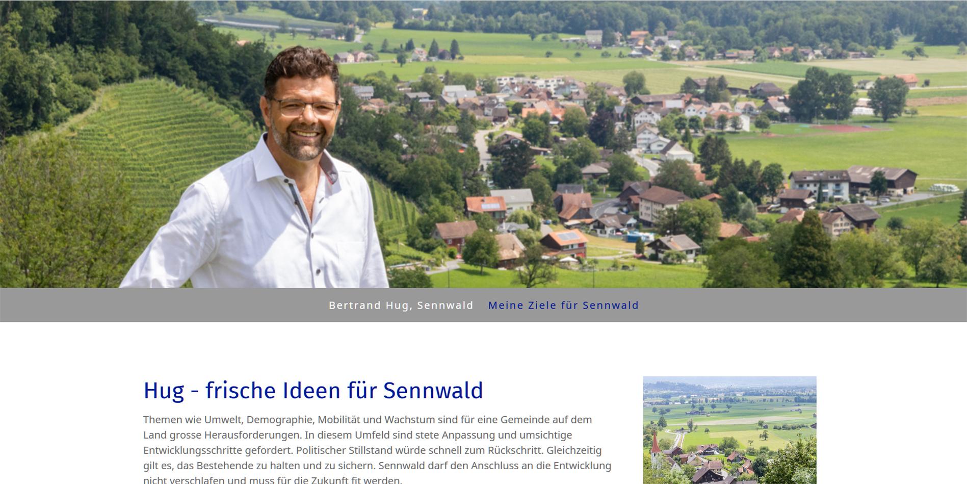 Website Bertrand Hug Gemeindepräsident Sennwald