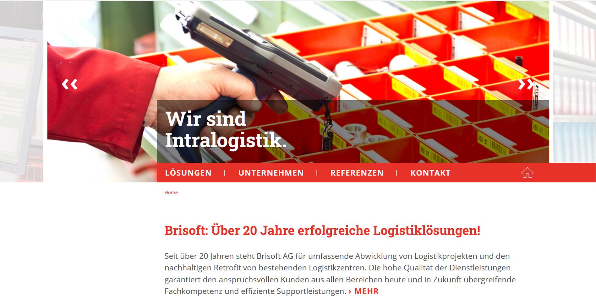 Homepage Brisoft AG